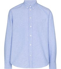 wood wood adam cotton oxford shirt - blue