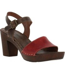 sandalia cuero agnes casual chocolate rockford