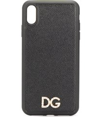dolce & gabbana crystal-embellished logo-plaque iphone xs max case -