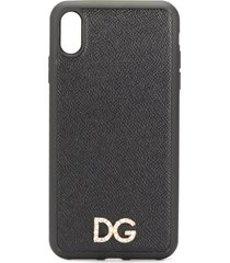 dolce & gabbana crystal logo iphone x case - black
