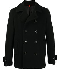 barena long-sleeved double buttoned coat - black