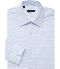 checkered long-sleeve dress shirt