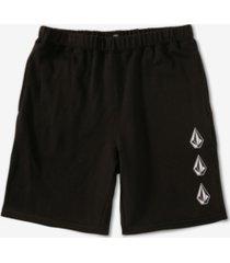 volcom men's iconic stone fleece shorts