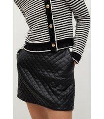 mango women's quilted mini skirt