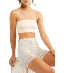 free people intimately fp nina bandeau bralette, size medium in nude at nordstrom