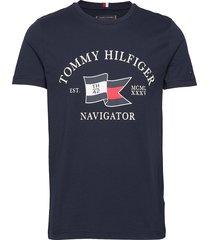 folded flag tee t-shirts short-sleeved tommy hilfiger