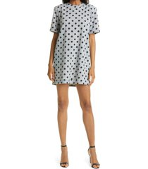 le superbe easy dots it cotton blend t-shirt dress, size small in polka dot heather grey black at nordstrom