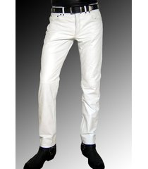 men leather jeans white leather pants white trousers men, men dress pant