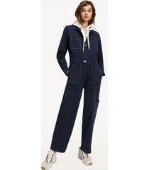 tommy hilfiger women's workwear jumpsuit navy - xl