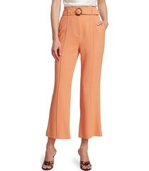jonathan simkhai women's florence crepe belted wide-leg pants - sedona - size 6