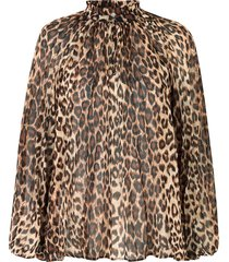 luipaardprint blouse cello  bruin