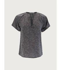 blusa estampada manga corta para mujer 11925
