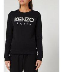 kenzo women's classic sweatshirt kenzo paris - black - xs