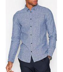 dr denim pete shirt skjortor blue