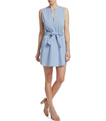 merritt sleeveless tie waist dress