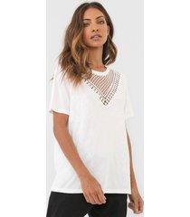 camiseta desigual tropic toughts off-white