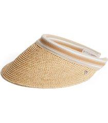 helen kaminski 'bianca' visor in natural/nougat stripe at nordstrom