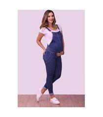 macacão gestante d'rafa - moda gestante skinny jeans