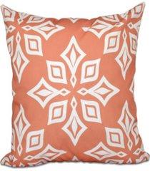 beach star 16 inch coral decorative geometric throw pillow