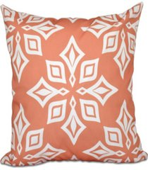 beach star 16 inch coral decorative geometric throw pillow