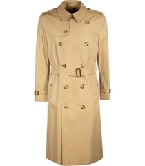 burberry double-breasted belted mid-length trench