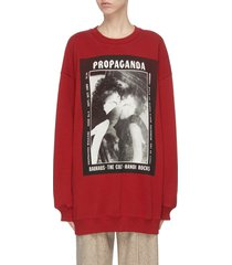 graphic magazine print oversized sweatshirt