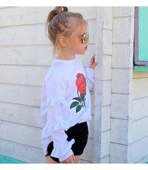 bluza biała hiszpakna dla dziecka