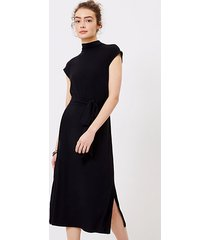 loft mock neck midi dress