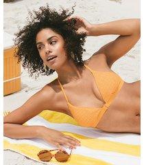 hunkemöller goldenrod trekantig bikiniöverdel gul