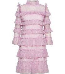 carmine mini dress kort klänning rosa by malina