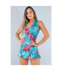 macaquinho mvb modas vestido curto short saia estampado amazônia