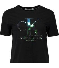 t-shirt iridescebt zwart