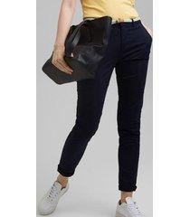 pantalón chino elástico azul marino esprit