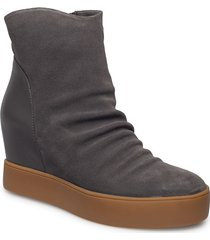 trish s shoes boots ankle boots ankle boot - heel grå shoe the bear