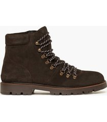 selected homme slhisaac suede hiking boot w kängor brun