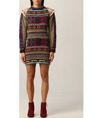 etro dress etro knit dress in multicolor wool