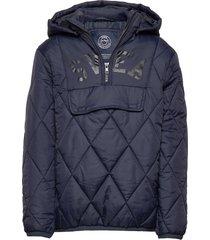k. quilted anorak hood jacket gevoerd jack blauw svea