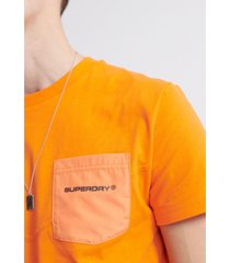 superdry men's urban tech nylon pocket t-shirt