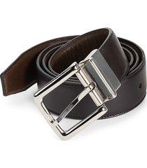 cole haan men's 32mm reversible leather belt - black brown - size 40