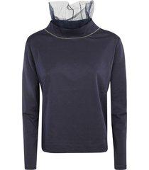 fabiana filippi lace detail embellished sweatshirt