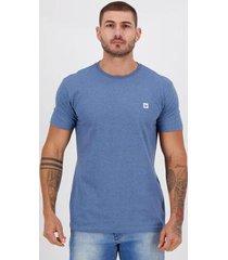 camiseta hang loose silk brush azul mescla - masculino