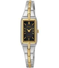 seiko women's solar two-tone stainless steel bracelet watch 15mm sup274
