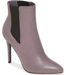 women's charles by charles david panama pointy toe bootie, size 6 m - grey
