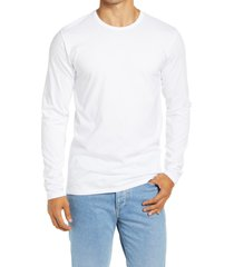 men's rag & bone principle base crewneck pullover, size large - white