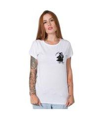 camiseta  skate death branco