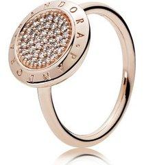 anel rosetm brilho pandora