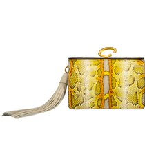 painted python slim clutch