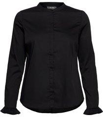 mattie sustainable shirt overhemd met lange mouwen zwart mos mosh