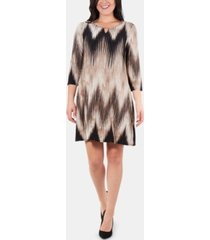 ny collection printed keyhole shift dress