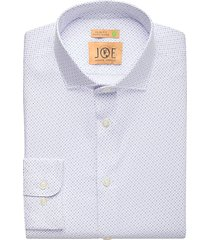 joe joseph abboud men's repreve® sky blue dot slim fit dress shirt - size: 19 34/35